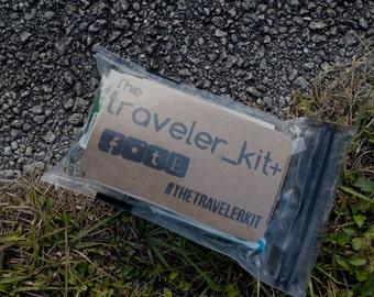 The Traveler Kit+ // Traveler Kit Adventure Travel Bag Travel Items Travel Necessities TSA Approved Carry On Bag Everyday Carry Explore