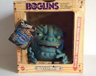 Vintage 1980's Mattel Boglins Toy, 1987 BOGLINS VLOBB Hand Puppet, Rare Collectible Boglins Puppet, Squishy Gross Mattel 80s Hand Puppet Toy