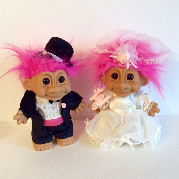 Russ Wedding Trolls Vintage Large Troll Dolls Collectible