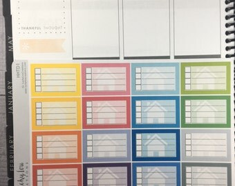 Home TO DO checklist Stickers - Option to customize color HHTD1