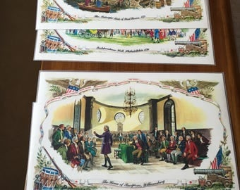 American Revolution Scene Placemats (set of four)