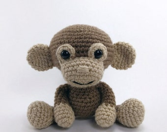 PATTERN: Crochet monkey pattern - amigurumi monkey pattern - crocheted monkey pattern - PDF crochet pattern