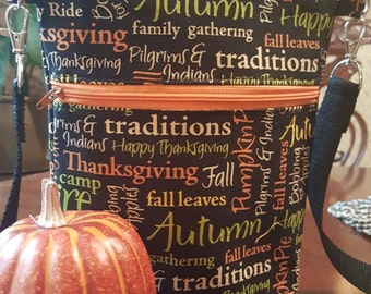 Fall purse, crossbody purse, Autumn purse, Thanksgiving purse, bonfires