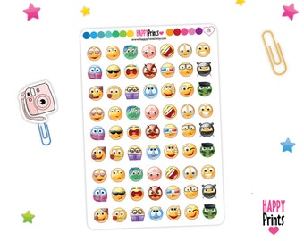 Emoji Emoticon Planner Stickers
