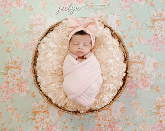 LIGHT PINK Gorgeous Wrap- headwrap; fabric head wrap; pink head wrap; boho; newborn headband; baby headband; toddler headband