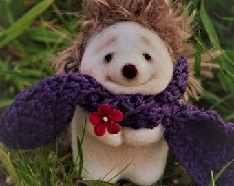 Christopher Robin felted Hedgehog