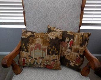 Vintage Inspired Victorian Pillows: Set of 2