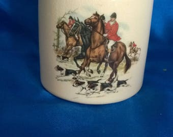 Sandland Ware Marmalade Pot for Frank Cooper Ltd, 'Fox Hunting' Scenes