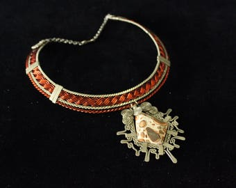 Atiy Leopard Stone Necklace Choker