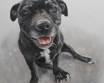 Custom Pet Portrait, favorite animals, original watercolor portrait pets to order