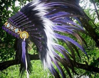 PRICE REDUCED! Native American inspired Clothing, Indian style Headdress,  Burning man, Tomorrowland, Rave Headdress, Festival clothing, edc