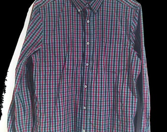 Slim Fit Buttoned Down Gingham Shirt // BRAND NEW one off SAMPLE // Great Reduced Price
