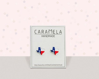 State of texas Flag of Texas stud earrings Texas map Texas state shape studs