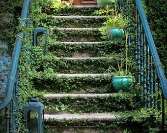 Savannah Georgia Photography, Savannah Stoop, Savannah Architecture, Travel Photography, Savannah Georgia Wall Art, Fine Art Photography