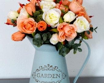 Silk Rose Arrangement | Farmhouse Decor | Rustic Decor | English Country Decor | Mother's Day Gift | Housewarming Gift