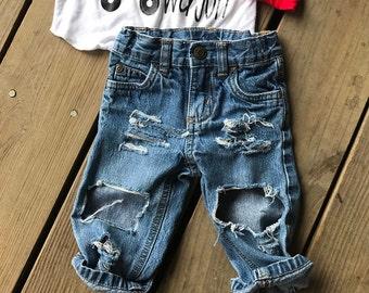 6Month Boys denim destroyed jeans
