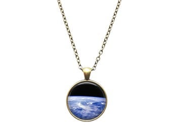 Space jewelry Astronomy necklace Earth's atmosphere pendant