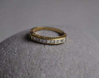 Vintage Art Deco diamond eternity ring