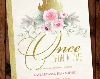 Princess Shower Invite, Little Princess Invite, Storybook Invitation, Once  Upon A Time Baby