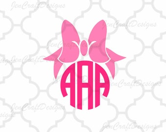 Bow monogram SVG EPS Png Dxf, Cricut Design Space, Silhouette Studio, Digital Cut Files
