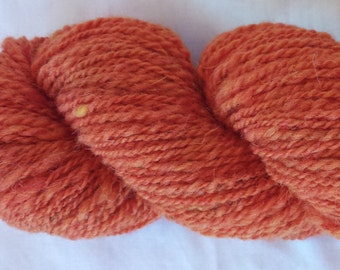 Orange Handspun Wool Yarn