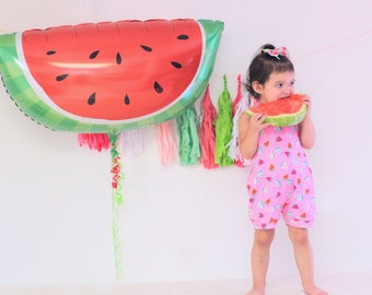 Watermelon Balloon - Watermelon Party - BBQ Baby Shower - Fruit Party - Watermelon Birthday - Summer Party - Cookout - Picnic Party - Beach