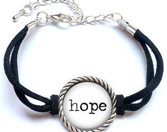 Word Bracelet, Hope Word Bracelet, Custom Word Bracelet, Custom Quote Bracelet, Inspirational Word Bracelet