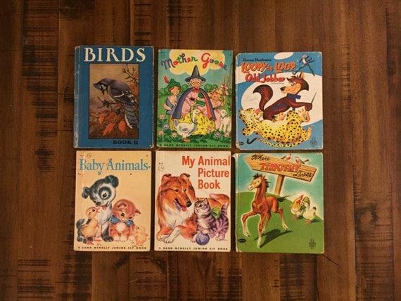 1930's-1960's Childrens Books/ Birds/ Mother Goose/
