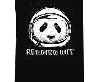 SPACING OUT Black Flowy Tank Sleeveless / space panda, sci fi shirt, astronaut, outer space womens shirt / Need space women's adult tank