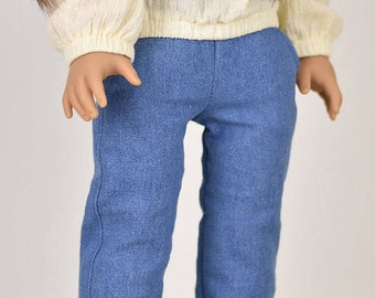 Denim Jeans 18 inch doll clothes Washed  Blue