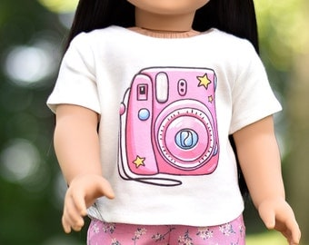 """Graphic top """"Pink Camera"""""""