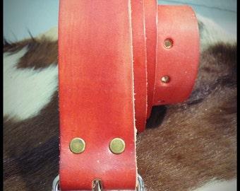 Custom Leather Belt  - vegetable tanned