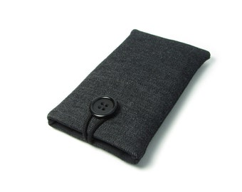 Samsung Galaxy S7 Case, Samung Galaxy S6 Edge Sleeve, Galaxy S6 - Black, Fabric, Cotton, Jeans