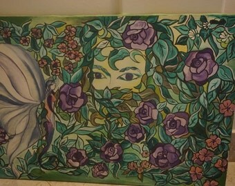 Original Canvas Painting by Giuliana - Violet Fairy