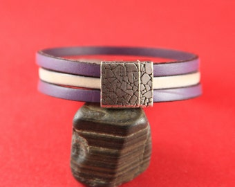 5/7 MADE in EUROPE zamak 15mm flat cord clasp, flat leather cord clasp, 15mm flat magnetic clasp (TM15X3KR) Qty1
