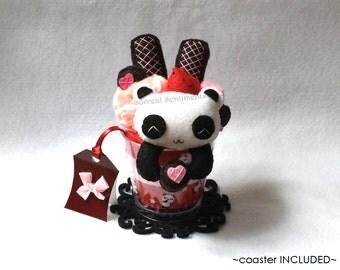 Valentine Heart Panda Parfait, Mini Gift Card U0026 Box. Valentine Gift For Her,