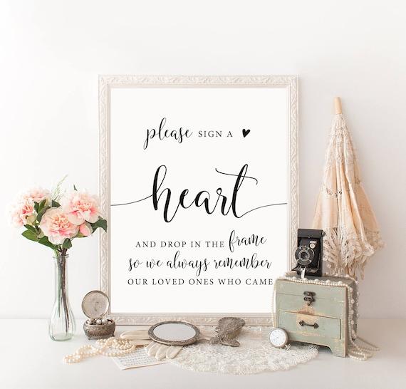 Heart Drop Guest Book Heart Guestbook Drop A Heart In
