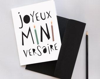 Joyeux Miniversaire - Greetings Card