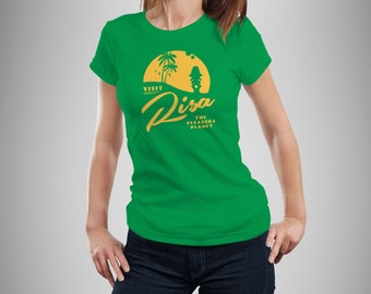"Star Trek Inspired ""Visit Risa"" Women's T-Shirt"