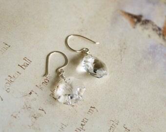 Hand Made Vintage Swarovski Chandelier Crystal Earrings // Choose Your Metal // Vintage Crystal Earrings // Wedding Jewelry