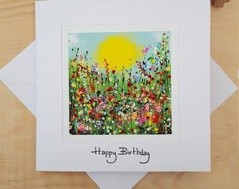 Birthday Card. Art Print Card. Greeting Card.