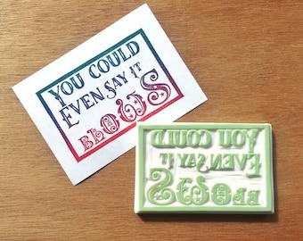 Christmas card stamp, snarky Christmas stamp, holiday card stamp, card making stamp, DIY Christmas card rubber stamp, unique christmas card