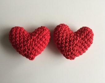Crochet Hearts, Stuffed Heart, Valentine's Day Heart, 3D Heart, Amigurumi Heart, Plush Heart, Gifts for Her, Valentines Gift