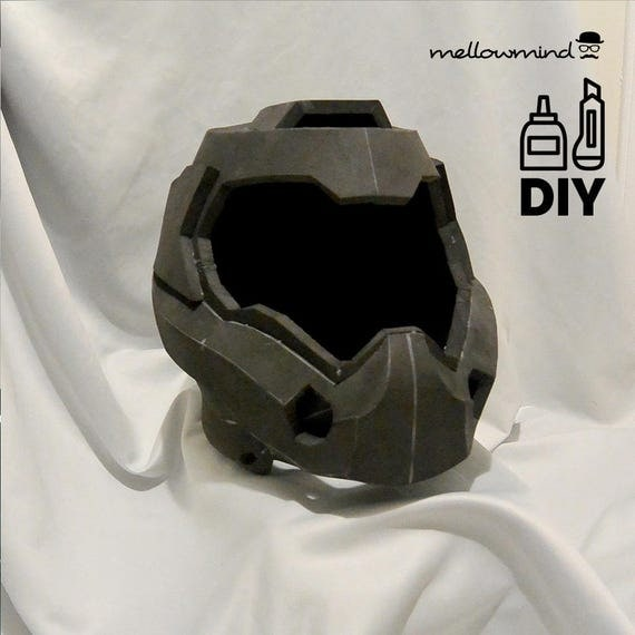 diy doom4 helmet template for eva foam from mellowmindcosplay on etsy studio. Black Bedroom Furniture Sets. Home Design Ideas