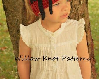 CROCHET PATTERN- The Scarlett Warmer (Baby, Toddler, Child, Teen, Adult sizes)-crochet headwarmer pattern crochet cowl- Instant PDF Download