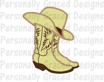 SVG, DXF, EPS Cut file, Png, Cowboy Hat svg, Boots Svg, Western svg, silhouette cut file, cameo file, Country cut file, Cowboy Boots Design