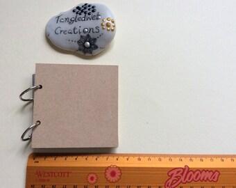 Zentangle Bijou tile holder MDF album with plastic sleeves small