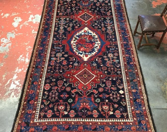 antique persian tribal rug 6x115 one of a kind blue luri bakhtiari c