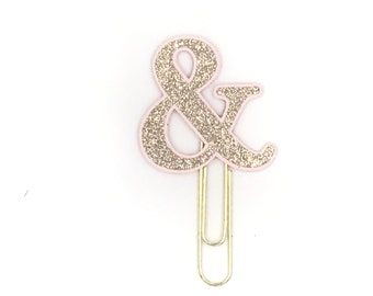 Rose Gold Ampersand Paper Clip