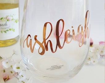 DIY Bridal Party Glass Decal sticker- Ideal for Stemless Wine Glass Decals Stickers - all lowercase letters